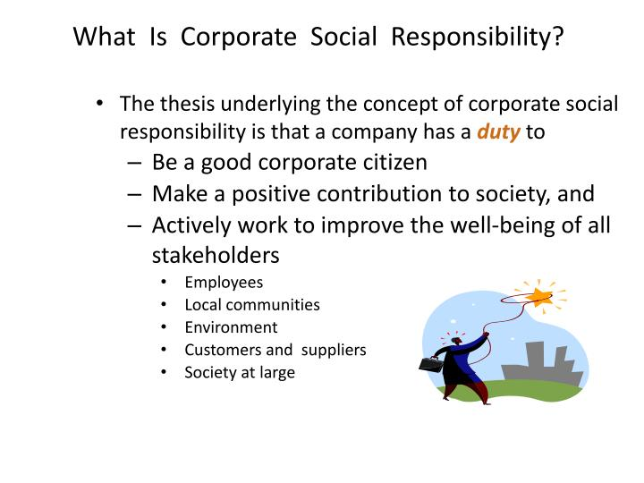 What  Is  Corporate  Social  Responsibility?