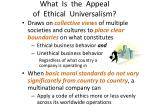 what is the appeal of ethical universalism