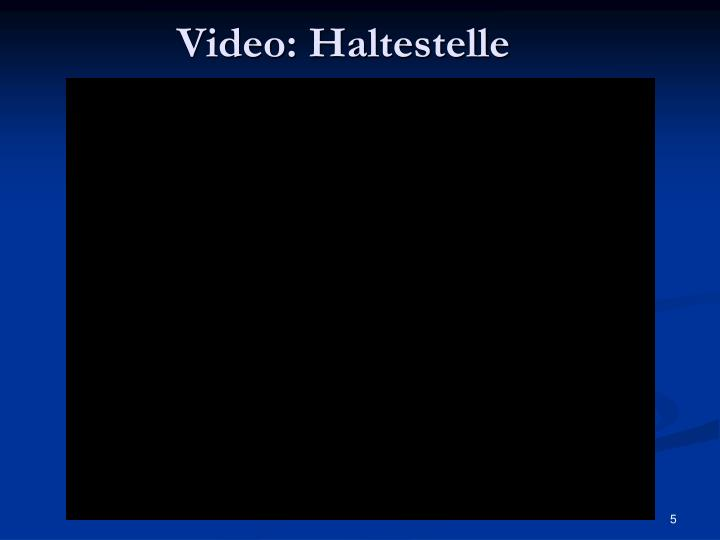 Video: Haltestelle