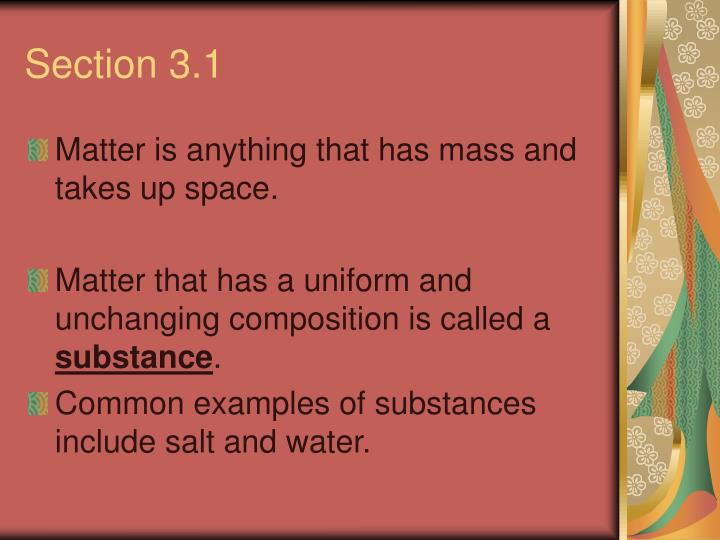Section 3.1