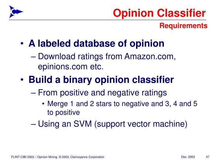 Opinion Classifier