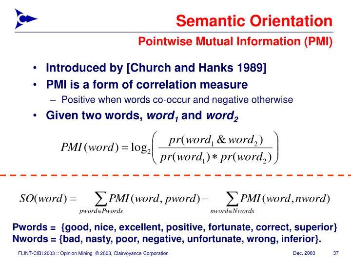 Semantic Orientation