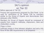 saj s opinion on tier iii