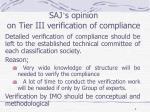 saj s opinion on tier iii verification of compliance1