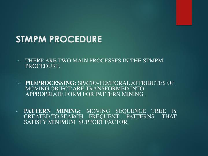 STMPM PROCEDURE