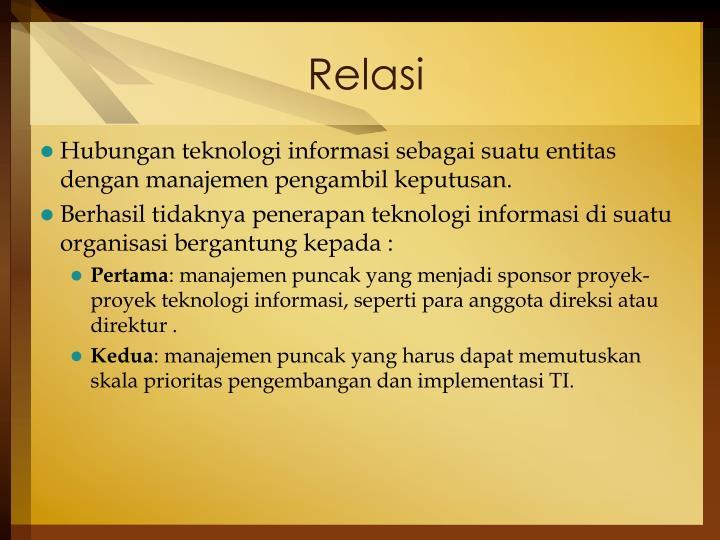 Relasi