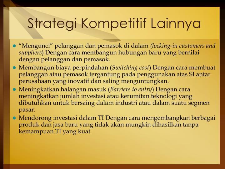 Strategi Kompetitif Lainnya