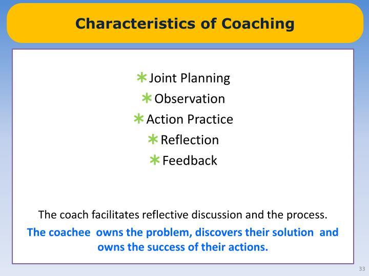 Characteristics of Coaching