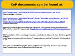 cop documents can be found at