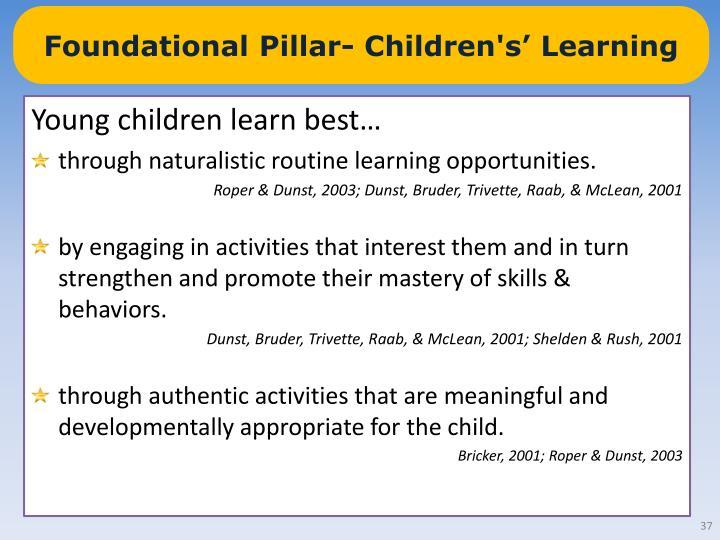 Foundational Pillar- Children's' Learning