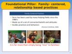 foundational pillar family centered relationship based practices