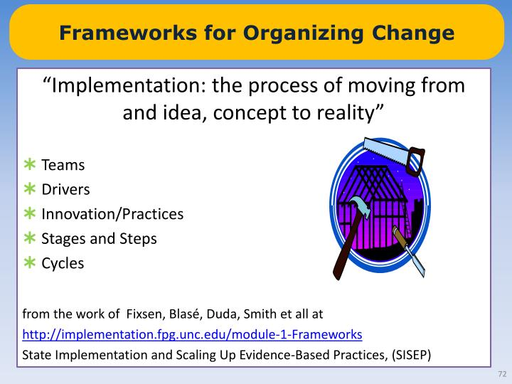 Frameworks for Organizing Change