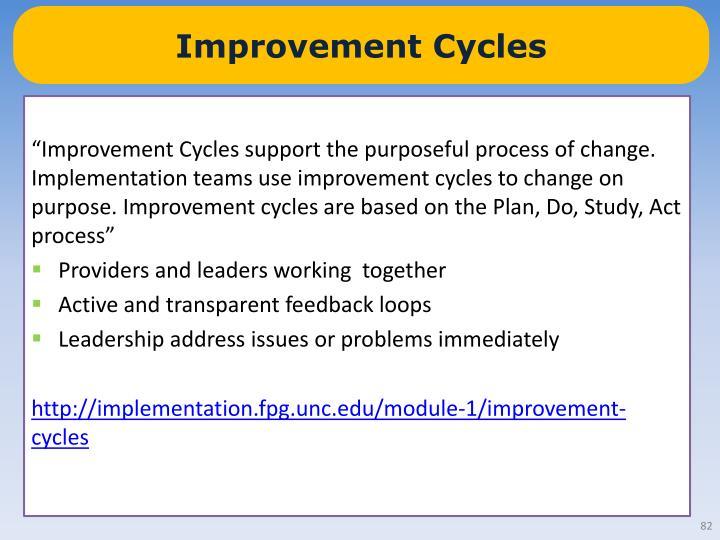 Improvement Cycles