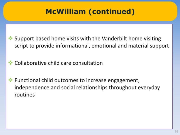 McWilliam (continued)
