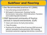 subfloor and flooring