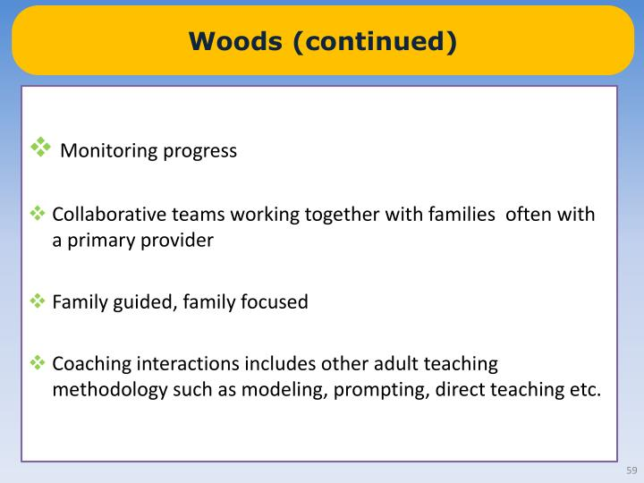 Woods (continued)