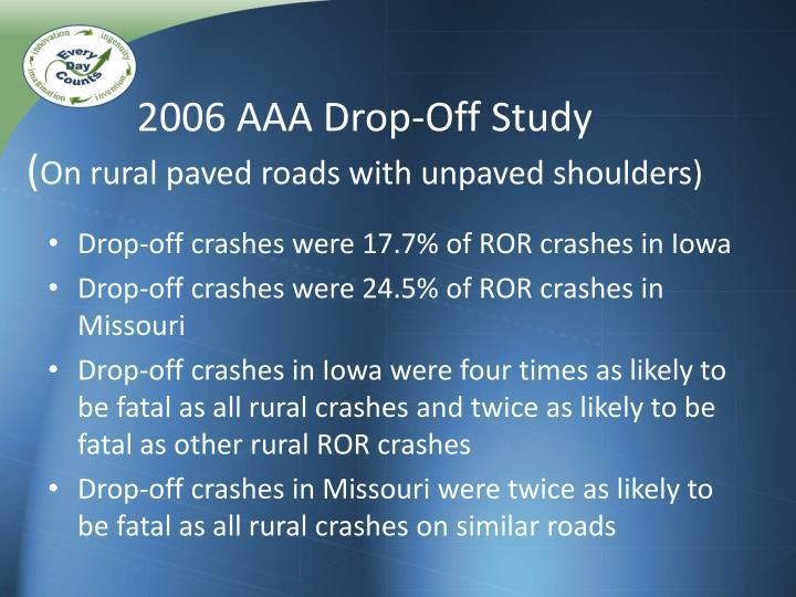 2006 AAA Drop-Off Study