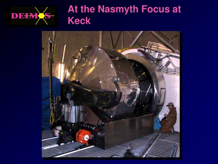 At the Nasmyth Focus at Keck