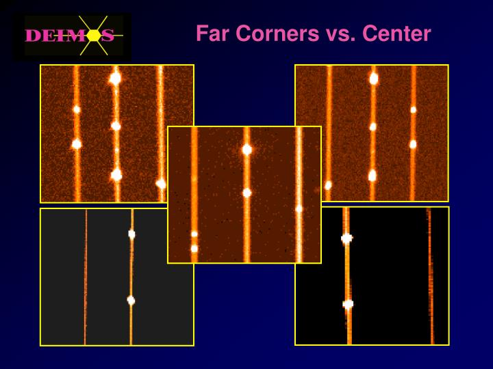 Far Corners vs. Center