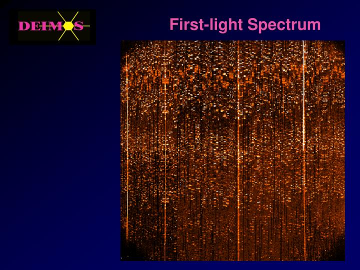 First-light Spectrum
