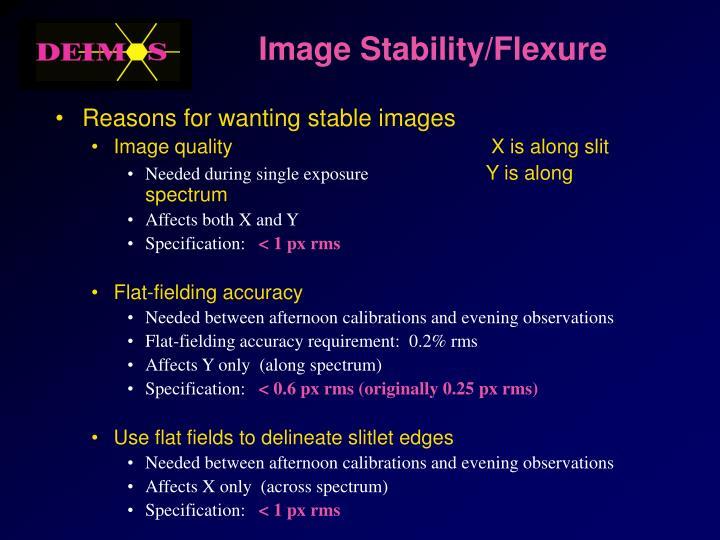 Image Stability/Flexure