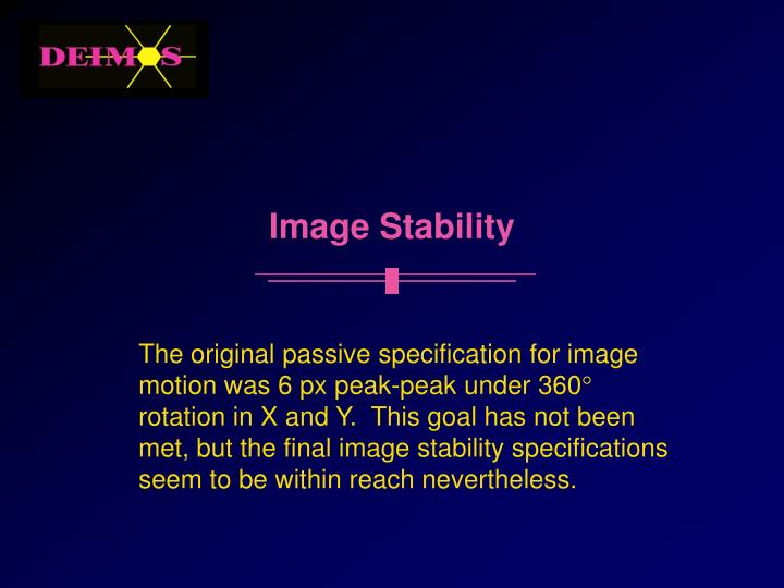 Image Stability