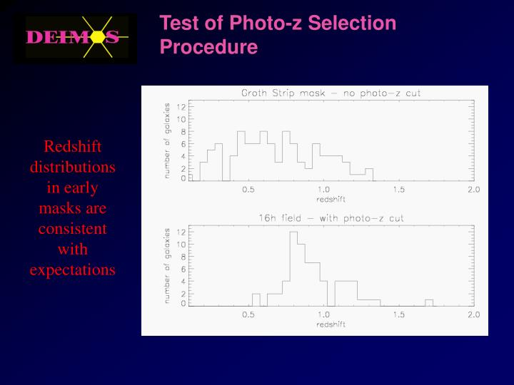Test of Photo-z Selection Procedure