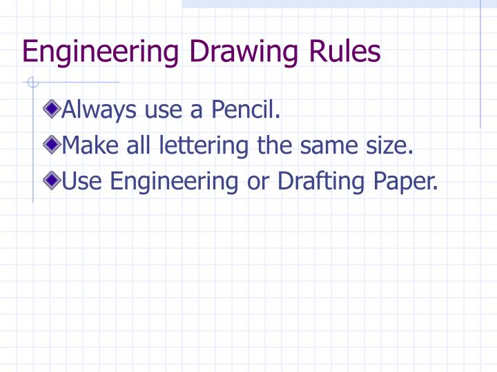 Engineering Drawing Rules