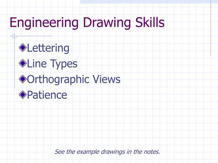 Engineering Drawing Skills