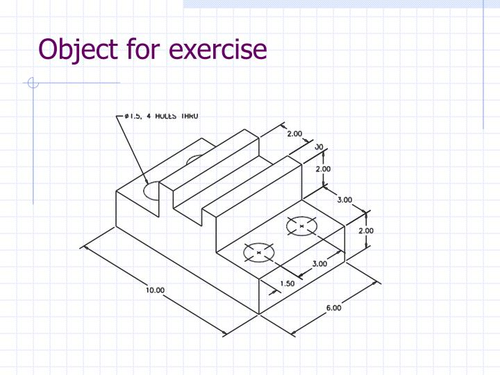 Object for exercise