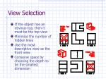 view selection