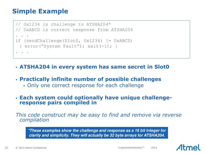 // 0x1234 is challenge to ATSHA204*