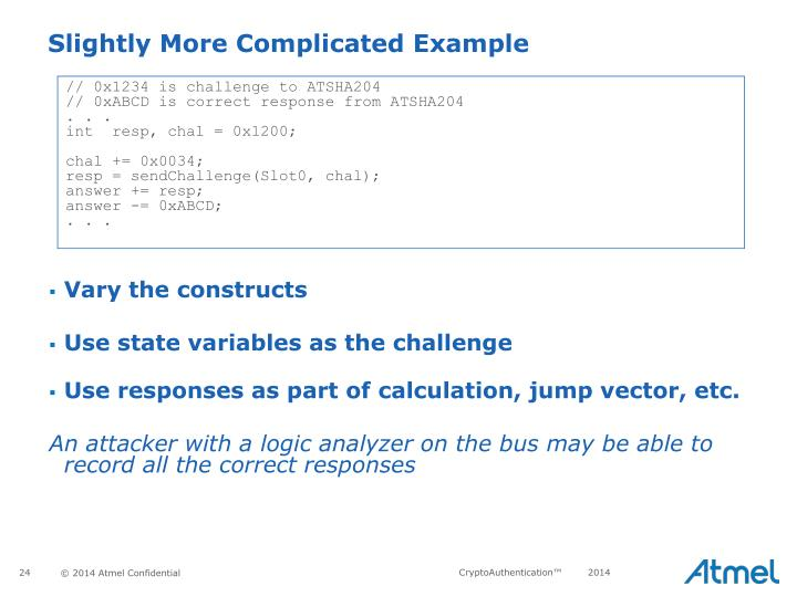 // 0x1234 is challenge to ATSHA204