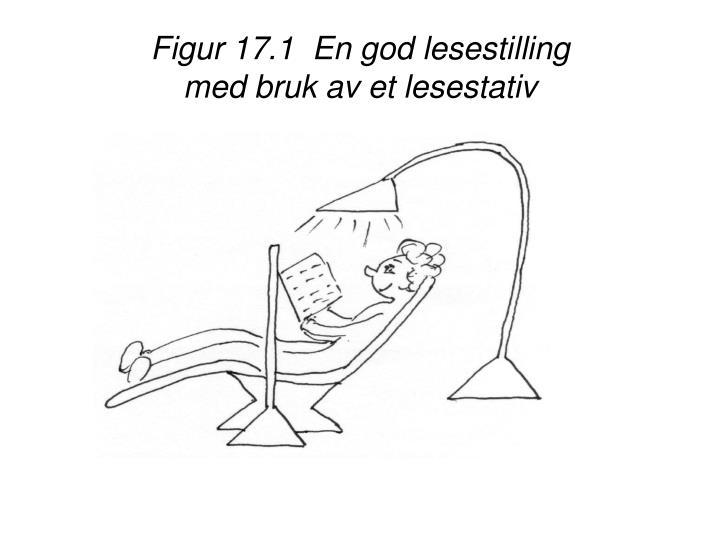 Figur 17.1  En god lesestilling