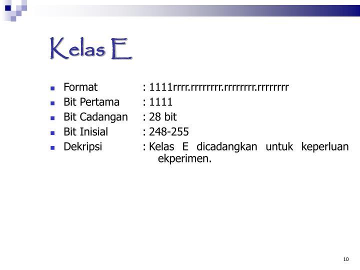 Kelas E