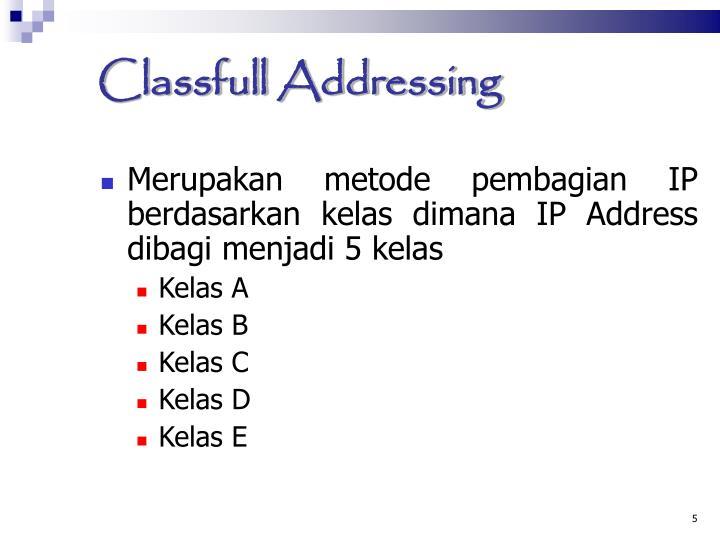 Classfull Addressing