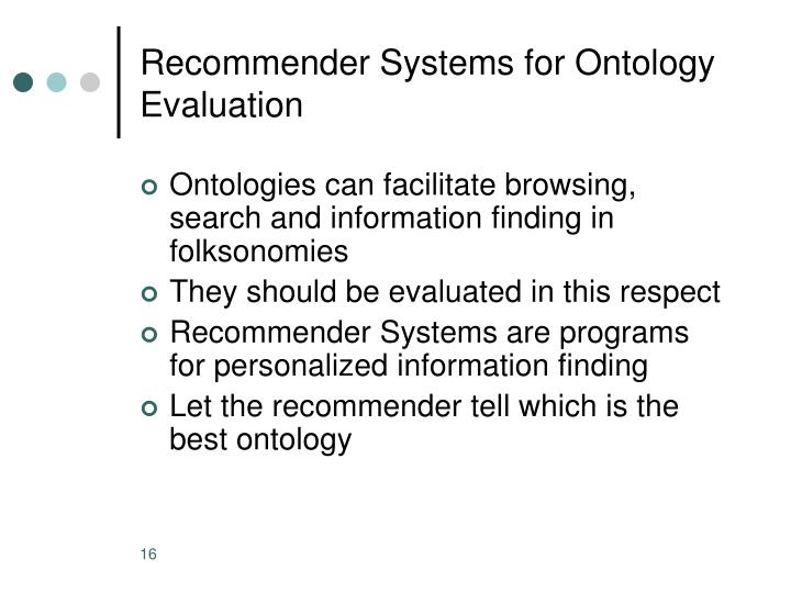 Recommender Systems for Ontology Evaluation