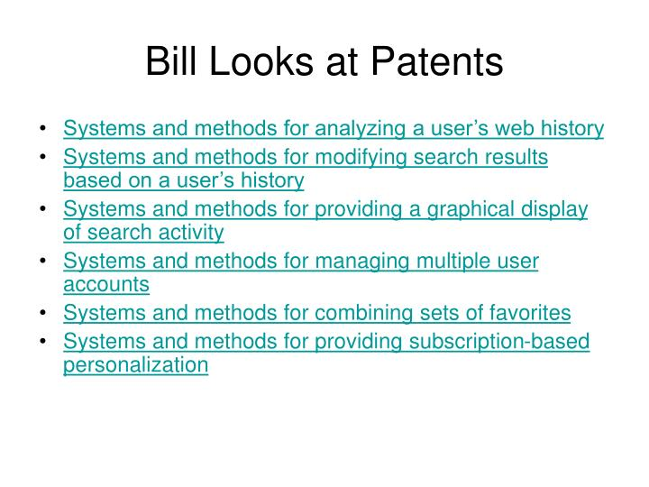 Bill Looks at Patents