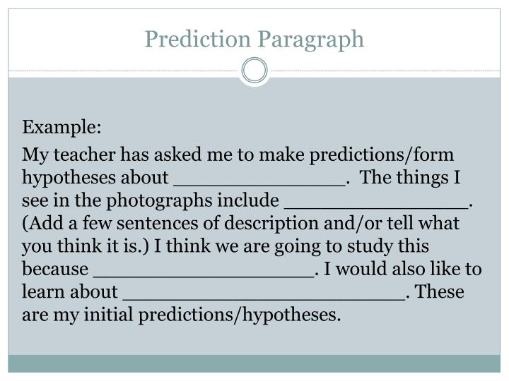 Prediction Paragraph