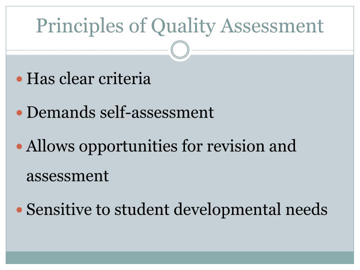 Principles of Quality Assessment