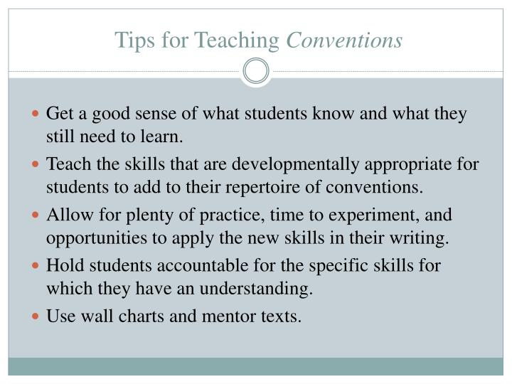 Tips for Teaching