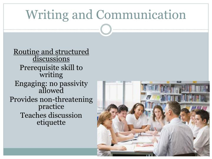 Writing and Communication