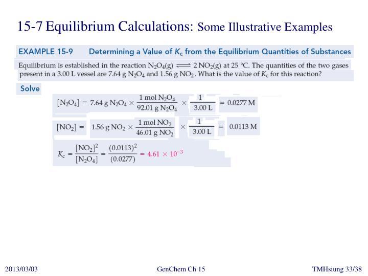 15-7Equilibrium Calculations:
