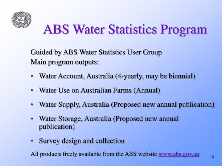 ABS Water Statistics Program