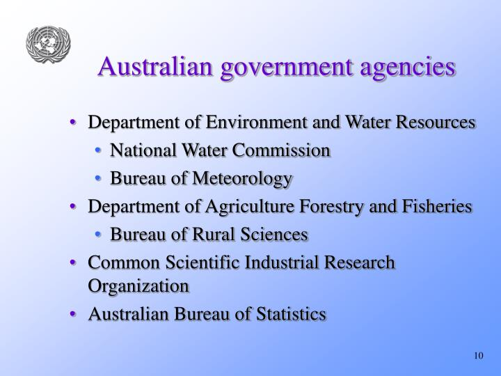 Australian government agencies