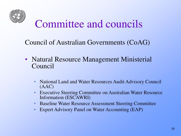 Committee and councils