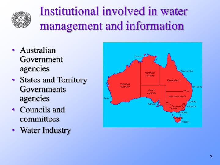 Institutional involved in water management and information