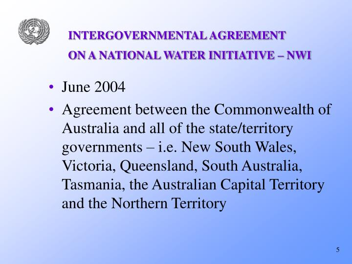 INTERGOVERNMENTAL AGREEMENT