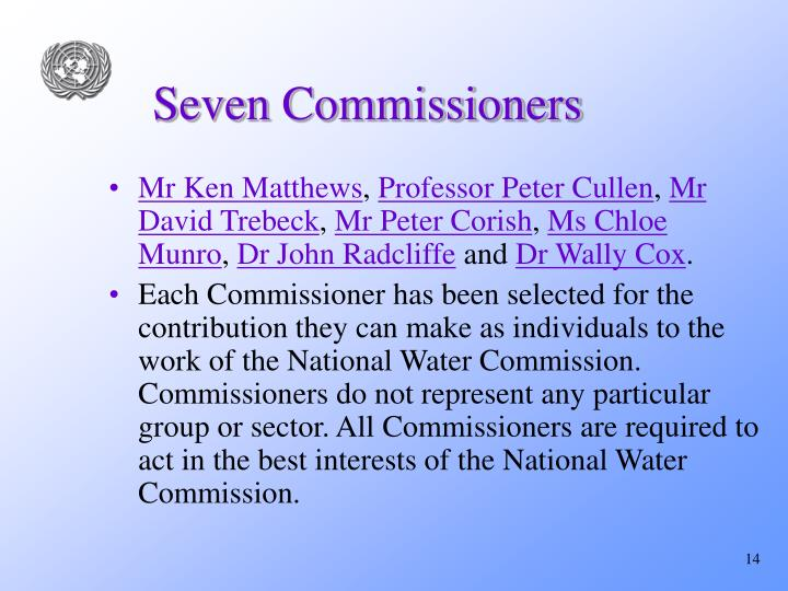 Seven Commissioners