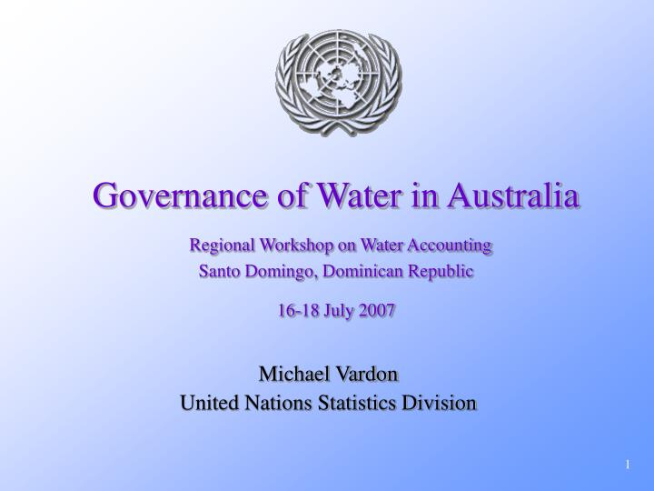 Governance of Water in Australia